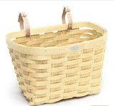 woven natural ash bicycle basket