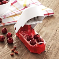 Sur La Table Cherry Pitter at Sur La Table because it is cherry season. Gadgets And Gizmos, Home Gadgets, Cooking Gadgets, Kitchen Gadgets, Cherry Salsa, Cherry Pitter, Cherry Season, Kitchen Necessities, Happy Kitchen