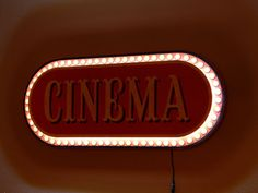 Vintage Style LIGHTED CINEMA Marquee NEON Look SIGN for HOME THEATER Mancave Gas