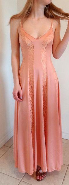Vtg Olga Rare Panels Lingerie Nightgown Robe by DakinisChoice, $29.00