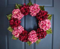 Wreaths | Front Door Wreaths | Door Wreaths | Wreath | Pink Wreath | Red Wreath | Summer Wreaths | Fall Wreath