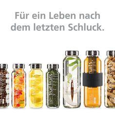 Ein bisschen Glas muss sein!  #upcycling #truefruits #flaschenaufsätze