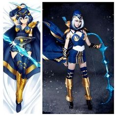 Ashe LOL League of Legends Ashe Iceshooter Cannon Jinx Cosplay Costume Custom Made