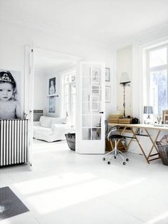 Modern Scandinavian Home Design In White And Pastel Shades Scandinavian Interior, Scandinavian Style, Scandinavian Kitchen, Home Office, Grandes Photos, Swedish Interiors, Of Wallpaper, Diy On A Budget, Home Interior Design