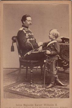 """ella-indigo: """" Kaiser Wilhelm II (1859-1941) with his eldest son, Prince Wilhelm (1882-1951) of Prussia. """""""