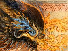 Retaliation by pallanoph.deviantart.com - fiery demon beast