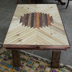 chevron wood table