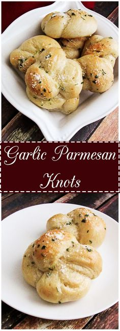 Garlic parmesan knots are pizza and pasta's best friend.  They are soft, chewy, little gems covered with warm butter, garlic, and Parmesan cheese and make an excellent side to any Italian dish.