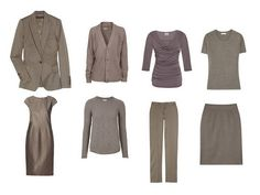 An all-taupe mini-wardrobe!
