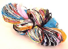 """on this day in 2008: """"plastic spun. she calls it """"plarn""""!"""""""