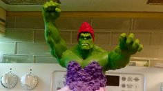 Some parents might have taken issue with their daughters wanting a cake that featured the Incredible Hulk in a dress. Not this Mom!