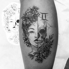 56 Stunning and Non-boring Gemini Tattoos – Our Mindful Life – 39 Stunning and N…, – leo constellation tattoo Gemini Zodiac Tattoos, Gemini Art, Gemini Tattoo Designs, Horoscope Tattoos, Gemini Life, Skull Tattoos, Body Art Tattoos, Sleeve Tattoos, Tattoo Neck