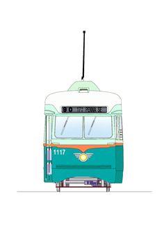 Tranvía de Washington 1117 PCC, de DC Transit, USA