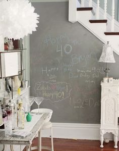 Love this Idea... now where could I put a wall like this in our house?