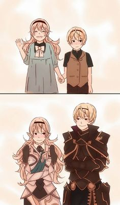 Corrin and Leon. He's not REALLY her brother. Lol.