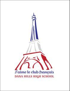 Dana Hills High School French Club 2013-2014 T-shirt Design