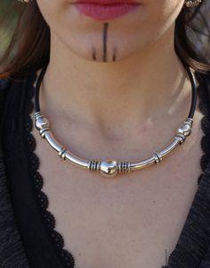 collar cuero mujer plata cuero collar bohemia por dreamonhandmade