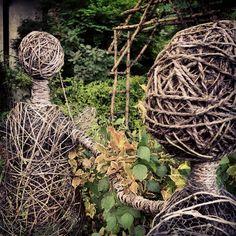 Dancing Girls - Woven wood sculpture @ Kiyosato, Japan.