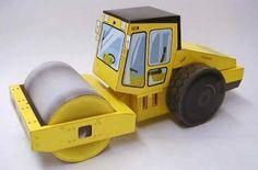 CASITA DE PAPEL: dollhouse paper: juego de vehículos de construcción, vehicle play by Sakai