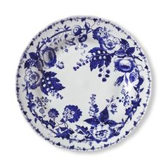 $51.99- French Blue Bouquet Salad Plates, Set of 4  French Blue Bouquet Dinnerware Collection