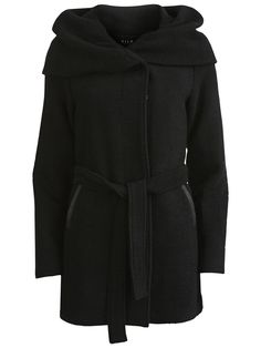 LOOSE FITTED COAT, Black