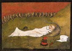 King Hobgoblin Sleeping, 1896 by Hugo Simberg on Curiator, the world's biggest collaborative art collection. Hobgoblin, Oil Painting Gallery, Elf King, Art Database, Art Google, Art Museum, Fairy Tales, Fine Art Prints, Canvas Prints