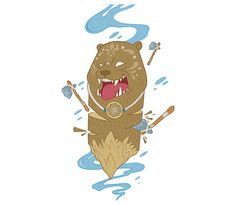 Smiling grizzly bear totem on Behance