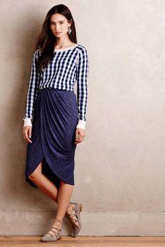 Maleo Draped Skirt by Dolan & Gingham Top