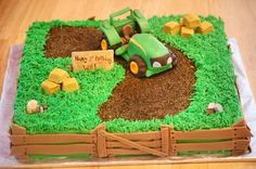 I know a little boy that needs something like this for his 2nd birthday ;)  Tractor Cake