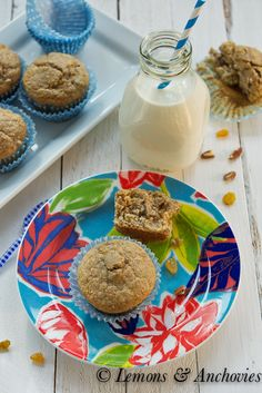 Banana Bran Muffins | Lemons & Anchovies Blog @Jean Pope | Lemons & Anchovies