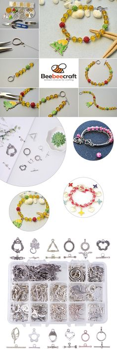 Craft DIY Tibet Silver Tone Toggle Clasps Various Shape Jewelry Bracelet Making
