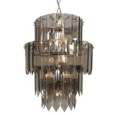 10-light Multi-tier Chandelier with Chrome Finish | Overstock™ Shopping - Great Deals on TRIARCH INTERNATIONAL Chandeliers & Pendants