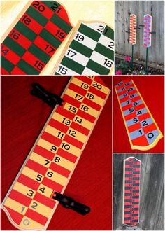 Custom Backyard Scoreboard for bocce ball, corn hole, other score oriented games…