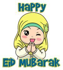 Baby Hijab : Ramadan (Eng) by EdSants Baby Hijab, Happy Eid Mubarak, Girly M, Hadith Quotes, Hijab Cartoon, Cute Funny Quotes, Merry Christmas Happy Holidays, Islamic Girl, Line Store