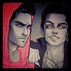 Wolf!Stiles and Derek (mah brotp!)