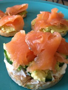 smoked salmon, avocado, and cottage cheese. mmmmmm.... You could also use cream cheese if you're not a fan of cottage cheese.