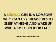 Know this too well ... maybe I am strong???