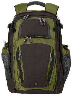 5.11 Tactical 22716 Covert 18 Backpack Mantis Green/Dark Oak Yoke Style Sternum Strap. From #5.11