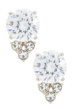 round cz cluster stud earrings by nadri @nordstromrack #NordstromRack