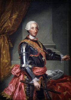 Charles_III_of_Spain_high_resolution.jpg   Carlos III of $ Jan 1716–14 Dec 1788 was the King of $ & Spanish Indies fr 1759-1788. The 5th son of Philip V of $, but oldes 2nd wife, Elisabeth Farnese. In 1731, the 15-yr old Carlos became Duke of Parma & Piacenza, as Charles I, on the death of Antonio Farnese. In 1734, as Duke of Parma, he conquered Naples & Sicily, & was crowned king on 3 Jul 1735, reigning as Carlos VII of Naples & Carlos V of Sicily. Upon succeeding to the $ throne on 10 Aug…