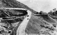 Vista da Via Anchieta nos anos 1950. Em 22 de abril a rodovia paulista comemora seus 65 anos.