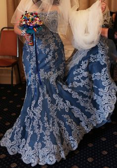 Don T Be Afraid To Dye Your Wedding Dress My Blue Turned