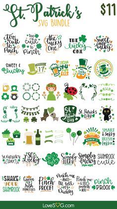 St Patricks Day Quotes, St Patrick Quotes, 3d Cuts, St. Patrick's Day Diy, Handwritten Quotes, St Patrick's Day Decorations, St Patrick's Day Crafts, St Pattys, Day Planners