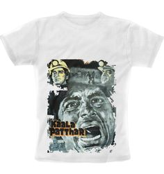 Kaala Patthar Retro Painted Poster print T-Shirt