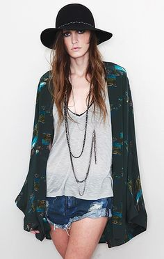 Can't get enough of kimonos.