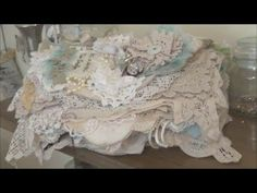 Fabric/Lace/Doiley Book Part 3 - Final - YouTube