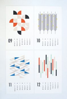 2015 wall calendar shapes от dozi на Etsy
