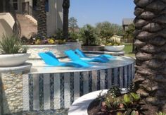 The new Ledge Lounger is a luxury chaise lounge is designed to be placed right on your pool's tanning ledge or wet deck so you can sunbathe in style.