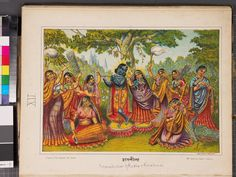 Rasa-lila, the dance of Krishna and the gopisfront
