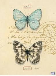 Duet Papillon by Chad Barrett (Butterfly) Vintage Labels, Vintage Cards, Vintage Paper, Vintage Images, Chad Barrett, Vintage Butterfly, Decoupage Paper, Decoupage Vintage, Illustrations